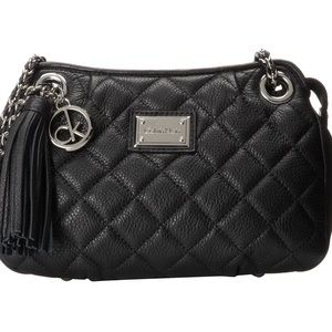 Calvin Klein Genuine Leather Quilted Crossbody Bag